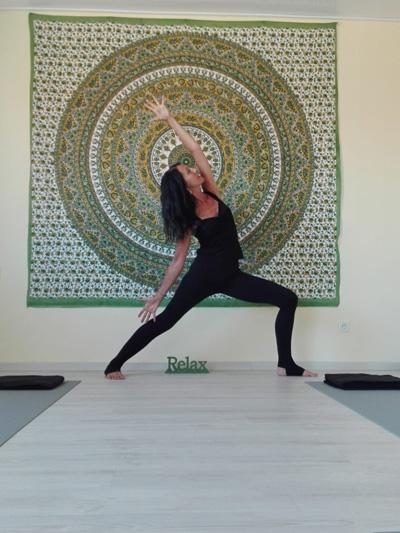 Yogalehrerin Angela Wegener